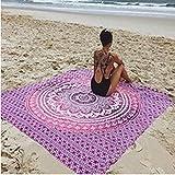 Kanpola Runde Strandtuch Mandala Handwerk Yogamatte Pool Handtuch Campingdecke Picknickdecke Strandlaken Yogamatte (E, 145 * 145cm)