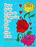 Coração rosas livro de colorir Para qualquer ocasião Enviar mensagens de amor Usar para decorar Cartões lembrança Pelo artista Grace Divine