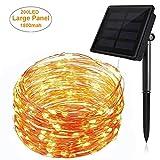 Solarleuchte 200 LED Beleuchtung [22 M] Garten Solarlampe Warmweiß Wandleuchte Wegleuchte für Tür, Flur, Weg, Terrasse, Patio, Zaun Außenleuchte