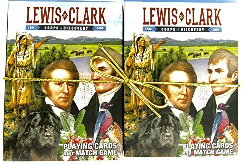 lewis-and-clark-souvenir-playing-cardshistorical-gift-card-faces-feature-multiple-landmarks-ousttand