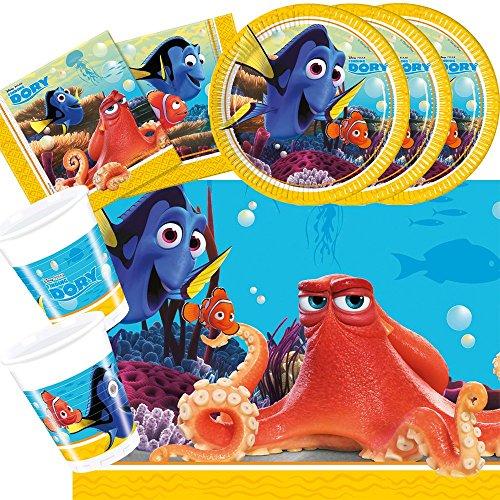 t Findet Dory - Findet Nemo 2 - Teller Becher Servietten Tischdecke für 8 Kinder (Nemo-party)