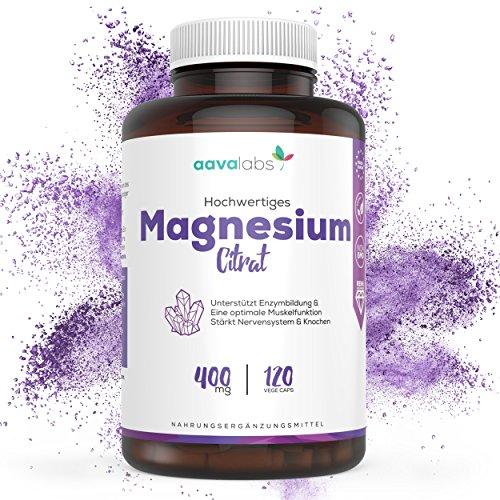 #Magnesiumcitrat Kapseln [ 400 mg ] von Aava Labs – Reiner Nährstoff, nicht gestreckt – Für Muskel und Nerven Funktion – 100% Vegan und ohne Gentechnik – Hergestellt in der EU – 120 Rein pflanzliche Kapseln.#