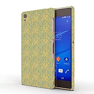 Koveru Designer Printed Protective Snap-On Durable Plastic Back Shell Case Cover for SONY XPERIA Z3 - Yello Blue Ethy