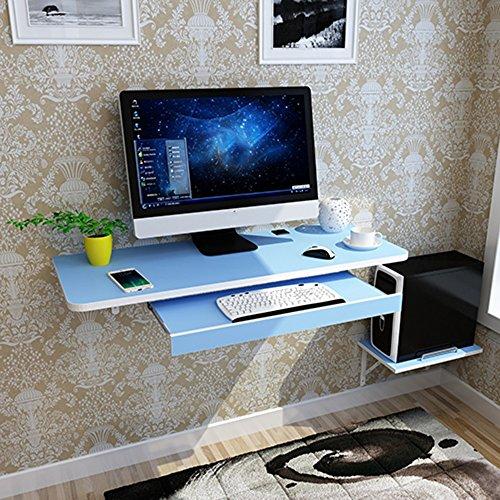 FEI Bureau d'ordinateur Bureau à la maison Bureau Petit appartement Bureau d'ordinateur simple Creative Hanging wall (Couleur : Bleu)
