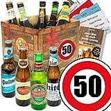 Geschenk Ideen zum 50. für Männer | Bier Geschenk mit Biersorten der Welt