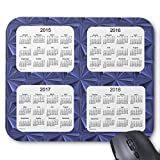 Blue Diamonds 4 Year 2015-2018 Calendar Mouse Pad 220mm*180mm*3mm