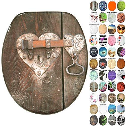 Sedile wc, grande scelta di belli sedili wc da legno robusto e di alta qualità (serratura)