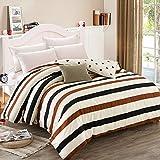 Puro algodón solo duvet cover/Otoño e invierno algodón edredón individual/ cómodo y respirable edredón-C 160x210cm(63x83inch)