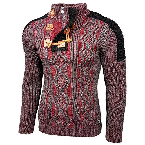Solid Pindaric Herren Winter Pullover Strickpullover