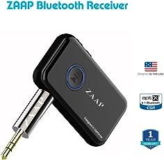 ZAAP ZAAPBRX-268 Wireless Audio Adapter 3.5mm AUX Stereo Output (Black)