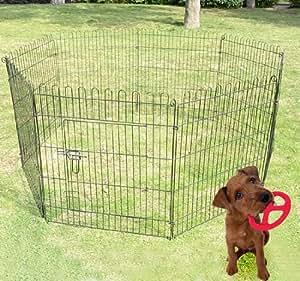 Pawhut recinto gabbia per cani gatti animali in acciaio for Recinto per cani amazon