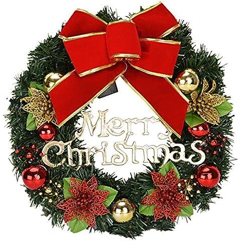 Kapmore Natale Decorazione Partito Bowknot Palla Fiore Ghirlanda Con Luci - Primavera Garland
