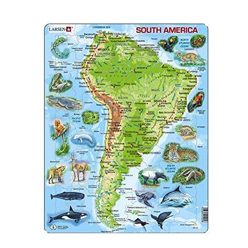 "Larsen A25 Rahmenpuzzle ""Südamerika"" 65 Teile"