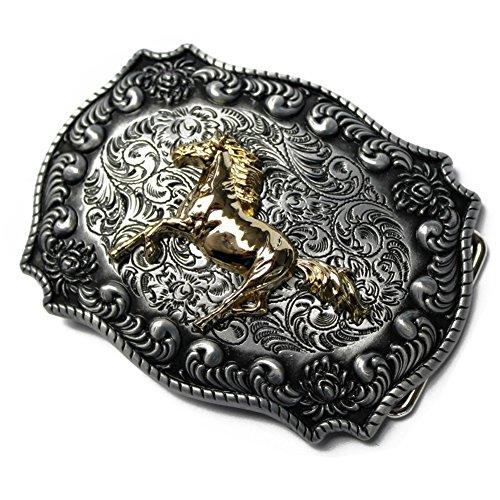 CXYP Gold Pferd Western Gürtelschnalle Cowboy Belt Buckle