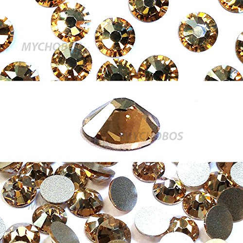 Crystal Golden Shadow (001GSHA) Swarovski 2058Xilion/New 2088Xirius, Kristallgröße SS20flatbacks No Hotfix Nail Art Strass 5mm SS20 - Supplies Usa Art Nail