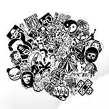 Modou Aufkleber [120 Stück], Schwarz Weiß Graffiti Vinyl Aufkleber für Laptop Autos Motorrad Fahrrad Skateboard Gepäck Stoßfänger Helm Fenster Handy Notebook Gitarre Skateboard Snowboard Wandtattoos