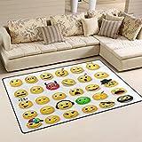 COOSUN gelb Emoticons emojis Bereich Teppich Teppich rutschfeste Fußmatte Fußmatten für Wohnzimmer Schlafzimmer 78,7x 50,8cm, Textil, multi, 2'7 x 1'8