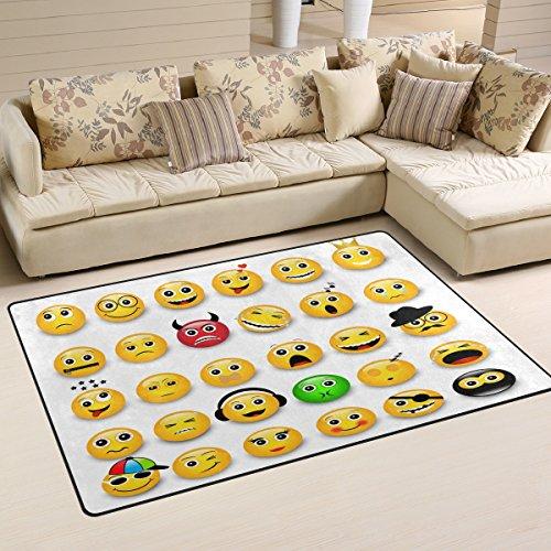 8 Gewebten Teppich (coosun gelb Emoticons emojis Bereich Teppich Teppich rutschfeste Fußmatte Fußmatten für Wohnzimmer Schlafzimmer 78,7x 50,8cm, Textil, multi, 2'7