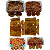 T T Nan Khatai Cookies, Chocolate Cookies, Badam Pista Cookies, Cocktail Cookies, Suji Rusk, Milk Rusk (Pack Of 6)-3 Pack Of 350 Gram, 2 Pack Of 200 Gram & 1 Pack Of 275 Gram
