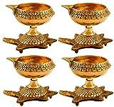 BrassLine Set of 4 Handmade Indian Puja ...