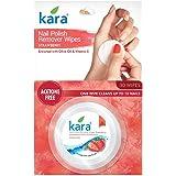 Kara Strawberry Nail Polish Remover Wipes, 30 Count
