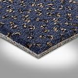 Vorwerk Premium gemusterter Velours-Teppichboden Auslegeware 7219140025 dunkelblau - 4m breit