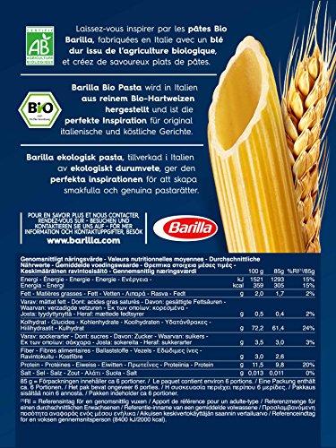 Barilla Pasta Nudeln Penne Rigate Bio, 6er Pack (6 x 500 g)