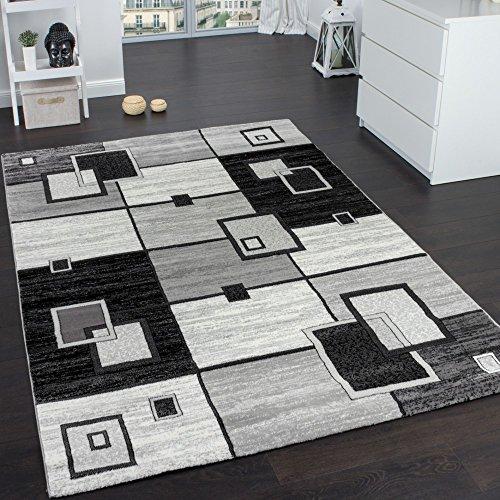 tappeto-di-alto-design-quadrettato-pelo-corto-grigio-crema-nero-screziato-dimensione120x170-cm