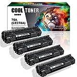 Cool Toner 4 Pack Kompatibel Toner für CE278A(78A) für HP Laserjet M1536 MFP M1536DNF P1560 P1566 P1606 P1606DN, Schwarz 2.100 Seiten