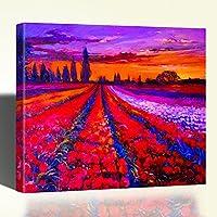 Stampa su Tela Canvas Quadro Paesaggio Fiorito Quadro Canvas 84x68cm