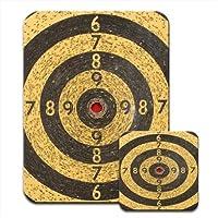 Dart / Archery Target Practice Red For Bullseye Premium Mousematt & Coaster Set
