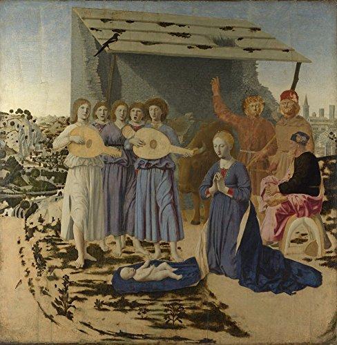 Das Museum Outlet-Piero della Francesca-Die Krippe, gespannte Leinwand Galerie verpackt. 96,5x 121,9cm -