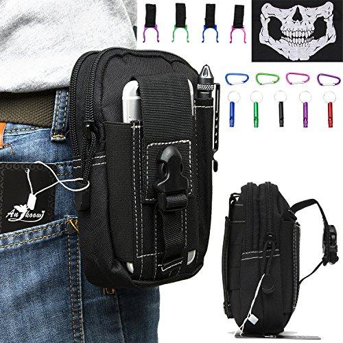 lot-de-5-etui-de-transport-pochette-ceinture-sac-banane-avec-1-x-noir-crane-masque-1-x-en-aluminium-