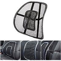 Cojín lumbar ajustable de malla transpirable para todo tipo de asientos