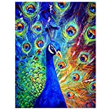 Tomtopp 5D Diamond Embroidery Painting DIY Peacock Mosaic Stitch Craft Kit Cross 30*25cm