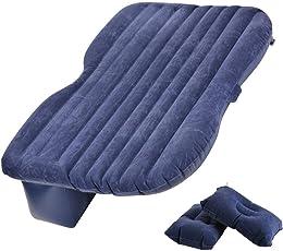 Pujuas Auto Matratze Auto Rücksitz Luftbett mit Luftpumpe und Kissen (Blau)