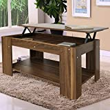 FoxHunter Lift Up Top coffee Table With Storage and Shelf Living Room Furniture