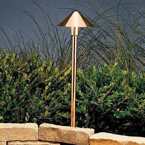 15439CO Fundamentals 1LT Incandescent/LED Hybrid LV Landscape Path & Spread Light, Polished Copper Finish by Kichler
