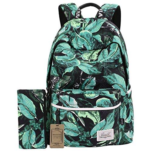 Mocha weir JIAYBL Laptop Taschen Schultern Kinder Schultaschen Rucksack Hochschule Mädchen Canvas Pack reisen (Grün) (Mocha Mädchen)
