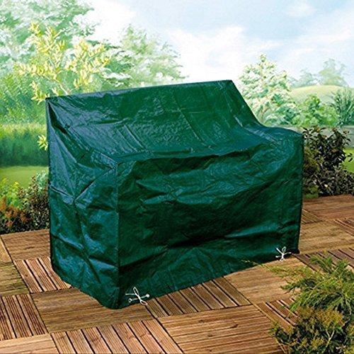 Möbelschutzhülle Abdeckung Gartenbank Schutzhülle für 2-Sitzer Gartenbank - aus reiß- und wetterfestem 130 gsm gewobenem PE - mit Metallösen und Nylonkordel zur einfachen und schnellen Befestigung