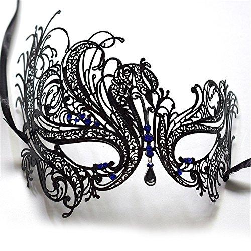 Maskerade,Metall Strass halbes Gesicht Maske weiblich Halloween Kostüm - Yugioh Halloween-kostüm