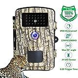 LongOu Caméra de Chasse1080P 12MP Camera de Chasse IP66 IR Camera Chasse Vision Nocturne de Surveillance Étanche et Camera Infrarouge