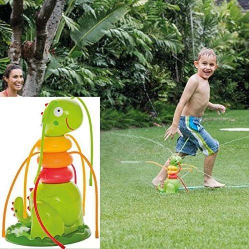 AA-SS-Outdoor Water Play Sprinklers Der freundliche Caterpillar Sprayer Wird einfach an Ihrem Gartenschlauch befestigt, um Wasser zu sprühen