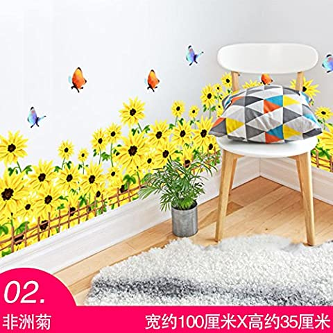 Baseboard wall stickers room decoration stickers waterproof porch kindergarten classroom layout lines in the corner living room,01,Extra