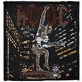 AC/DC Aufnäher STIFF UPPER LIP Patch gewebt 10 x 10 cm