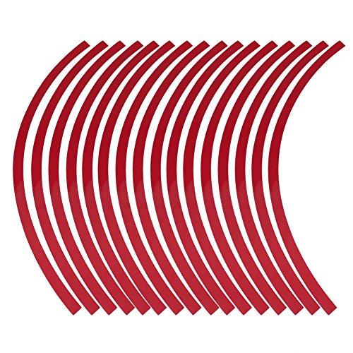 Acouto Universal Auto Motorcycel Rad Reflektierende Nadelstreifen Aufkleber Klebeband Aufkleber Dekoration Film 6 Farben(red) (Nadelstreifen Für Autos)