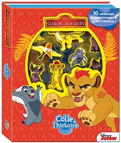 La Garde Du Roi Lion Colle à l'Histoire: Coffret livre avec 10 personnages ventouses