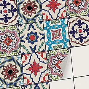creatisto Mosaikfliesen Fliesenaufkleber Fliesenfolie - Aufkleber Folie für Fliesen I Stickerfliesen - Mosaikfliesen für Küche, Bad, WC Bordüre (20x25 cm I 30 -Teilig)