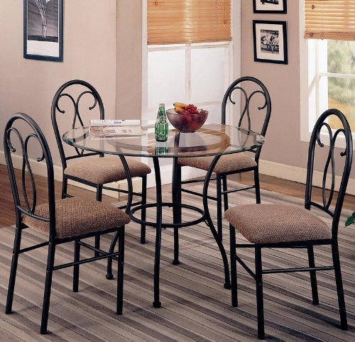 5pc-dining-table-and-chairs-set-metal-base-dark-brown-finish-by-coaster-home-furnishings