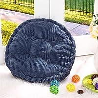 SROVFIDY Cojines de Asiento Redondos de la Silla DE 40 * 40cm acolchan Las esteras de Almohadillas para el sofá del Piso de la Oficina en el País (Dark Blue)